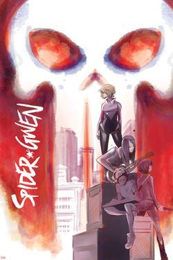Spider-Gwen No. 9 Cover Art Featuring: Punisher, Spider-Gwen, Gwen Stacy, Mary Jane Watson and More by Robbi Rodriguez