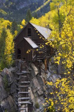 A Mill on a Rock Promontory Above the Crystal River by Robbie George