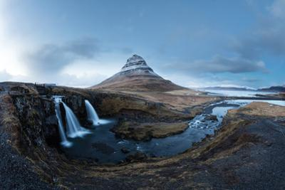 Mount Kirkjufell and its waterfall. by Robbie George