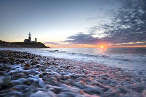 Sunrise at Montauk Point Lighthouse by Robbie George