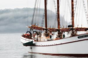 The Margaret Todd Sailboat at Anchor on a Foggy Morning by Robbie George