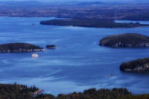 The Margaret Todd Sailing Among the Many Islands in Frenchman's Bay by Robbie George
