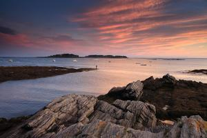 The Sunset over Casco Bay by Robbie George