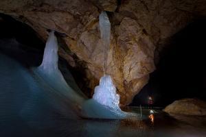 Ice Formations Inside Eisriesenwelt Eishoehle in Werfen, Austria by Robbie Shone