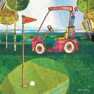 Golf Cart - Red by Robbin Rawlings