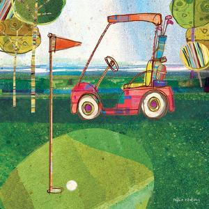 Golf Cart - Red by Robbin Rawlings