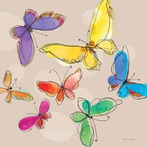 Swirly Butterflies + Neutral Back by Robbin Rawlings