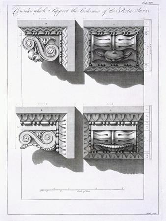 Consoles Which Support Columns of the Porta Aurea