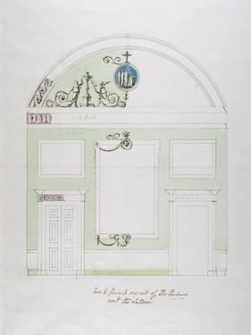Design for the End Wall of the Eating Parlour, Headfort House by Robert Adam