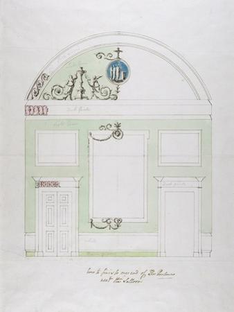 Design for the End Wall of the Eating Parlour, Headfort House