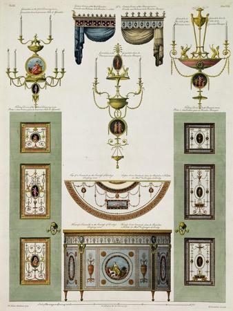 Designs for Curtain Cornices, Girandoles and Folding Doors, 1774