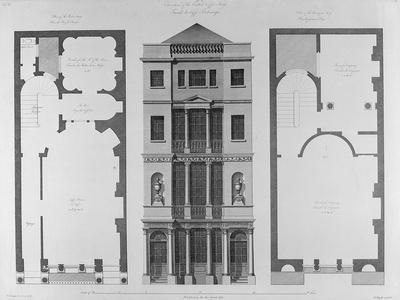 Elevation of the British Coffee House, Engraved by Robert Blyth, 1778