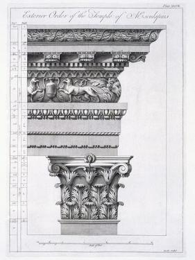 Exterior Order of the Temple of Aesculapius, Plate XLVII by Robert Adam