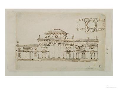 Sketched Design For a Domed Building
