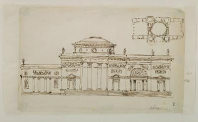 Sketched Design For a Domed Building by Robert Adam