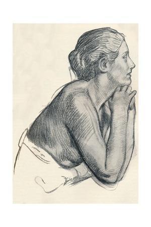 'A study in Sanguine', c1900