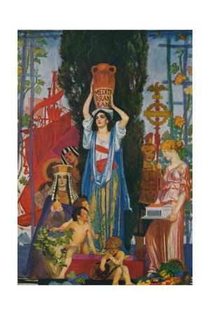 'Sketch of The Seven Seas', c1922, (1923)