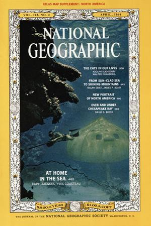 Cover of the April, 1964 National Geographic Magazine