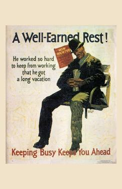 A Well-Earned Rest, 1930 by Robert Beebe
