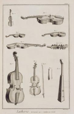 Instruments Played with a Bow, from the Encyclopedia of Denis Diderot by Robert Benard