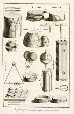 Plate II: Ancient and Modern Percussion Instruments from the Encyclopedia of Denis Diderot by Robert Benard