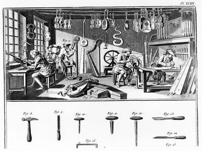 The Instrument Maker's Workshop, Plate Xviii from the 'Encyclopedia' by Denis Diderot (1713-84)…