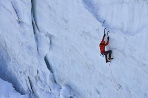 Ice Climbing in the Bernes Oberland, Swiss Alps by Robert Boesch