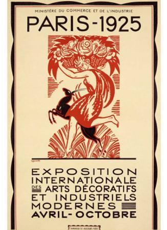 1925 Paris Art Exposition Poster by Robert Bonfils
