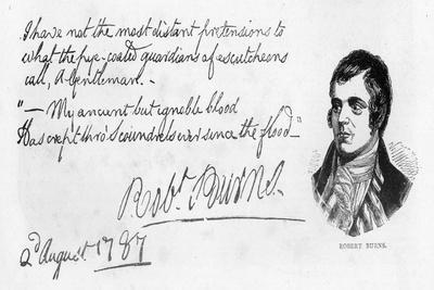 Handwriting and Signature of Robert Burns, 1787
