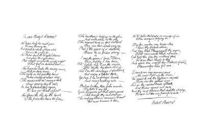 Queen Mary's Lament, Poem in the Handwriting of Robert Burns, Late 18th Century