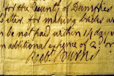 Robert Burns' Signature