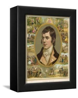 Robert Burns Scottish National Poet Portrait Surrounded by His Creations