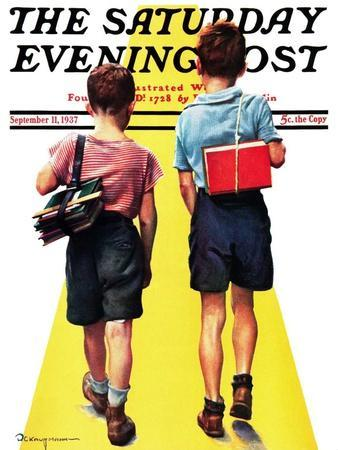 """""""Back to School,"""" Saturday Evening Post Cover, September 11, 1937"""