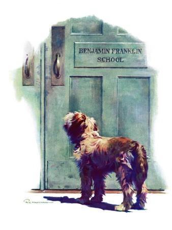 """""""Dog Waiting for Schoolboy,""""September 10, 1938"""