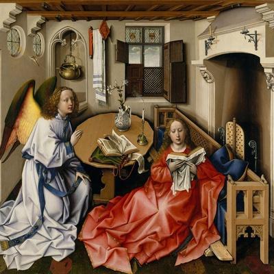 The Annunciation (Mérode Altarpiec), Ca 1428-1432