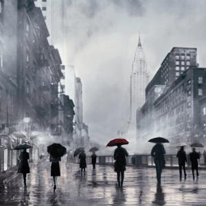 New York Red Umbrella by Robert Canady
