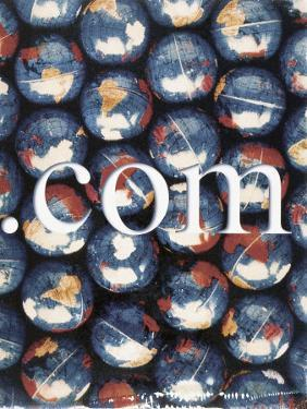 Com with Background of Globes by Robert Cattan