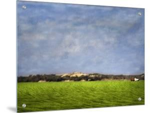 Impressionistic Harvest Field and Truck by Robert Cattan