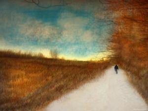 Lonely Autumn Path by Robert Cattan