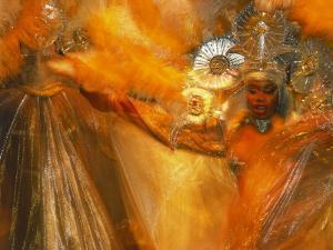 Samba Dancers, Rio de Janeiro, Brazil by Robert Cattan