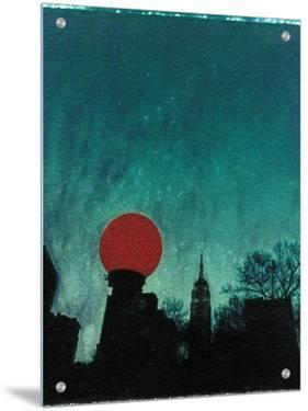 Scarlet Streetlight with Chrysler Building by Robert Cattan