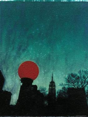 Scarlet Streetlight with Chrysler Building by Robert Cattan