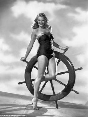 Rita Hayworth in Swimming Suit by Robert Coburn