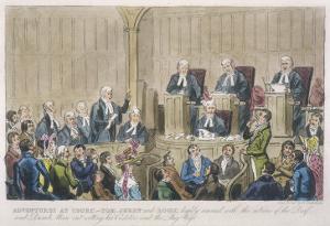 Courtroom Scene by Robert Cruickshank