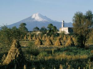 The Volcano of Popocatepetl, Puebla State, Mexico, North America by Robert Cundy