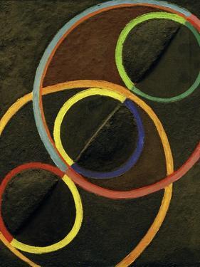 Relief Noir Avec des Cercles de Couleur (Black Relief with Colour Circles), 1930-32 by Robert Delaunay