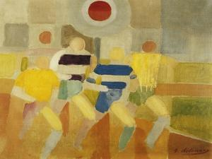 The Runners on Foot, C.1920 by Robert Delaunay