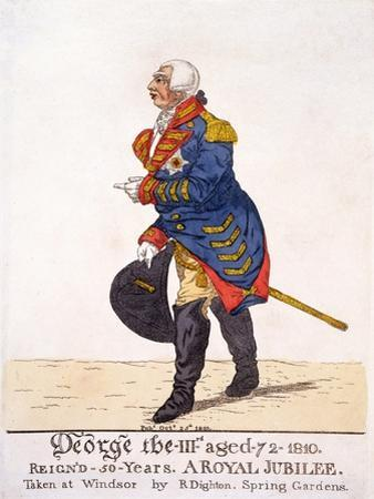 George III of Britain in 1810 on His Fifty Year Jubilee by Robert Dighton