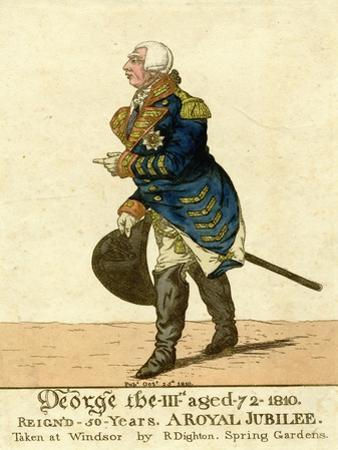 George III Print of His Fiftieth Year Jubilee by Robert Dighton