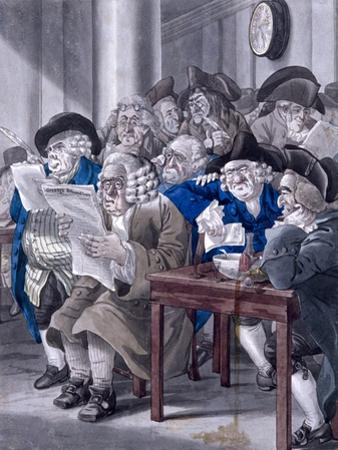 Stock-Jobbers Extraordinary, Stock Exchange, London, C1795 by Robert Dighton